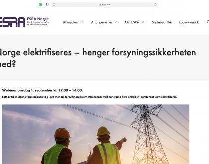 Innlegg på ESRA sitt webinar